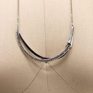 CHARTER CLUB U Frame Silver Rhinestone Necklace